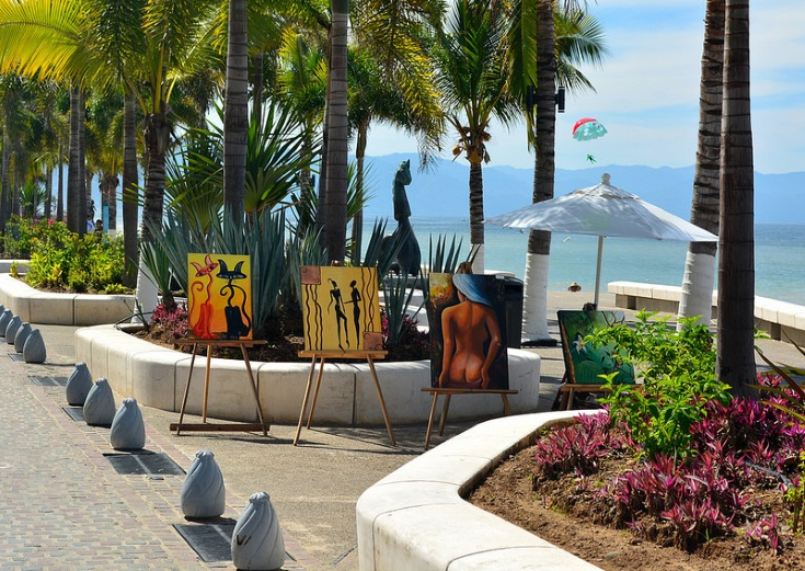 Puerto Vallarta and a picture under the palm tree